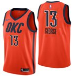 Men's Oklahoma City Thunder Paul George Nike Orange Earned Edition Swingman Jersey