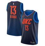Men's Oklahoma City Thunder Paul George Nike Navy Statement Edition Swingman Jersey