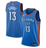 Men's Oklahoma City Thunder Paul George Nike Blue Icon Edition Swingman Jersey