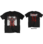 Slipknot Men's Tee: Devil Single - Logo Blur (Back Print)