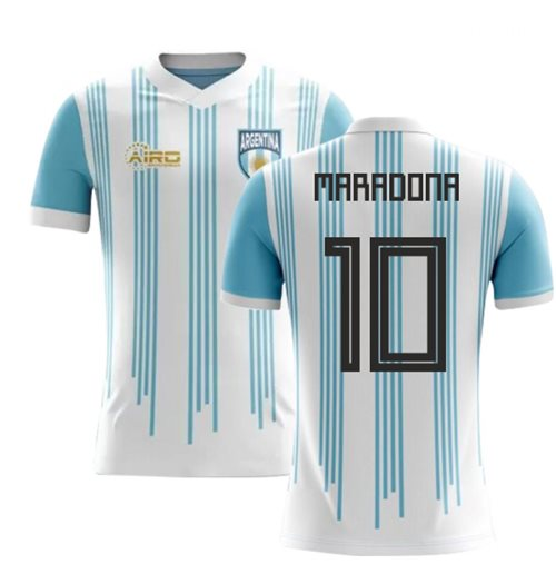 2018-2019 Argentina Home Concept Football Shirt (Maradona 10) - Kids