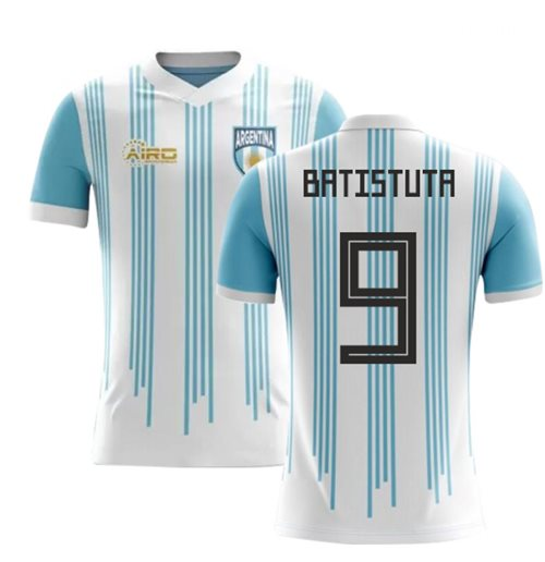 2018-2019 Argentina Home Concept Football Shirt (Batistuta 9) - Kids