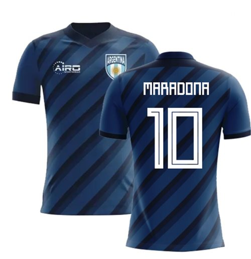 2018-2019 Argentina Away Concept Football Shirt (Maradona 10) - Kids