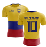 2018-2019 Colombia Flag Concept Football Shirt (Valderrama 10)