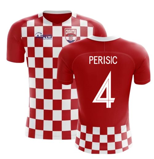 2018-2019 Croatia Flag Concept Football Shirt (Perisic 4) - Kids