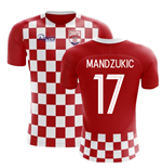 2018-2019 Croatia Flag Concept Football Shirt (Mandzukic 17) - Kids