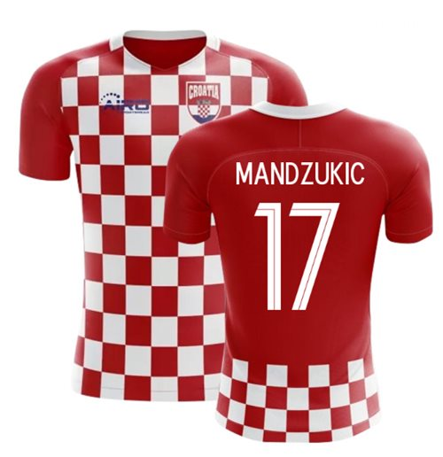 2018-2019 Croatia Flag Concept Football Shirt (Mandzukic 17)