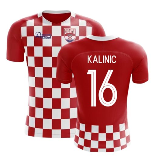 2018-2019 Croatia Flag Concept Football Shirt (Kalinic 16)