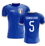 2018-2019 Italy Home Concept Football Shirt (Cannavaro 5) - Kids