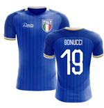 2018-2019 Italy Home Concept Football Shirt (Bonucci 19) - Kids