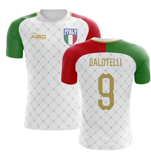 2018-2019 Italy Away Concept Football Shirt (Balotelli 9) - Kids