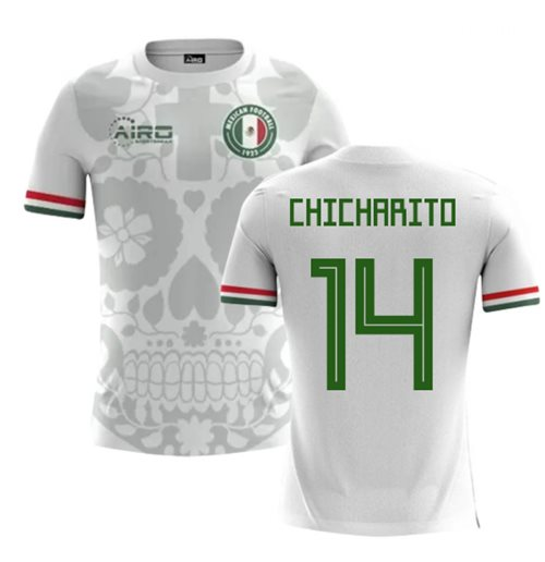 2018-2019 Mexico Away Concept Football Shirt (Chicharito 14) - Kids