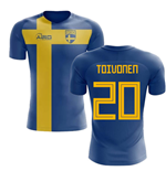 2018-2019 Sweden Flag Concept Football Shirt (Toivonen 20) - Kids