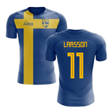 2018-2019 Sweden Flag Concept Football Shirt (Larsson 11) - Kids