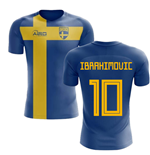 2018-2019 Sweden Flag Concept Football Shirt (Ibrahimovic 10) - Kids