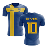 2018-2019 Sweden Flag Concept Football Shirt (Forsberg 10) - Kids