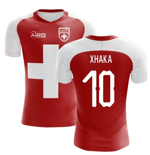 2018-2019 Switzerland Flag Concept Football Shirt (Xhaka 10) - Kids