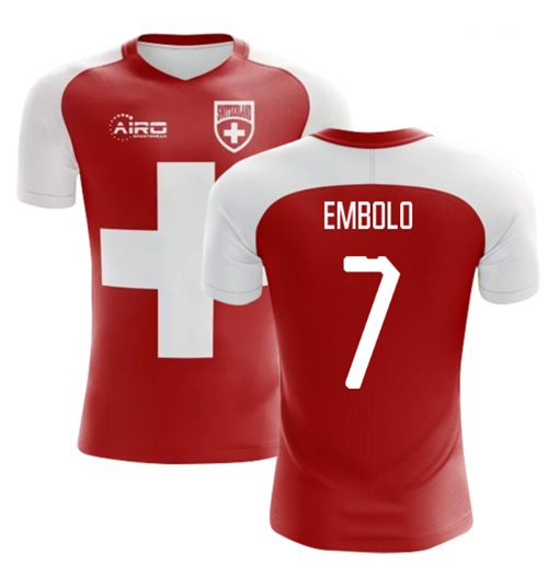 2018-2019 Switzerland Flag Concept Football Shirt (Embolo 7)