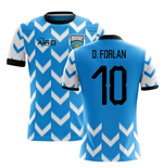 2018-2019 Uruguay Home Concept Football Shirt (D. Forlan 10)