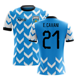 2018-2019 Uruguay Home Concept Football Shirt (E. Cavani 21)