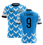 2018-2019 Uruguay Home Concept Football Shirt (L. Suarez 9)