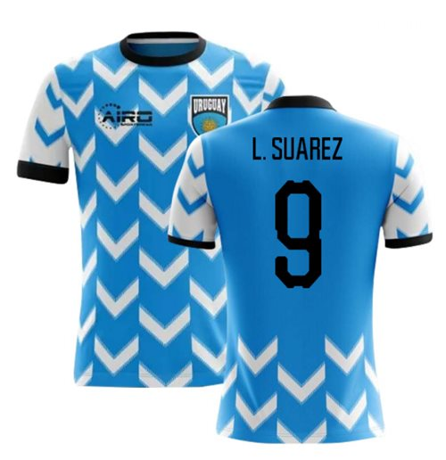 2018-2019 Uruguay Home Concept Football Shirt (L. Suarez 9) - Kids