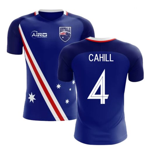 2018-2019 Australia Flag Away Concept Football Shirt (Cahill 4)