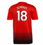 2018-2019 Man Utd Adidas Home Football Shirt (Scholes 18)