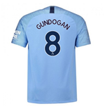 2018-2019 Man City Home Nike Football Shirt (Gundogan 8)