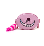 DISNEY Alice in Wonderland Cheshire Cat Shaped Shoulder Bag with Shoulder Strap, Female, Pink
