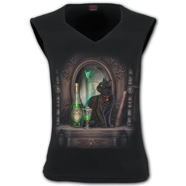 Absinthe - Hex-neck Sleeveless Top