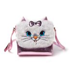 DISNEY The Aristocats Marie Shaped Shoulder Bag with Shoulder Strap, Female, Pink/White
