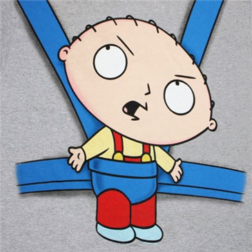 Buy Family Guy Stewie Baby Sling Heather Gray Graphic Tee