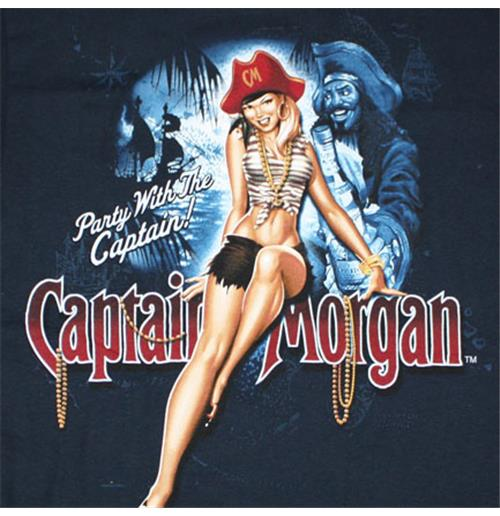Official Captain Morgan Party Girl T Shirt Buy Online On