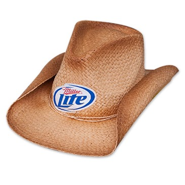 miller lite logo shapeable straw cowboy hat for only 163 21 58 at merchandisingplaza uk