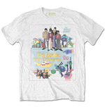 The Beatles Men's Tee: Yellow Submarine Vintage Movie Poster