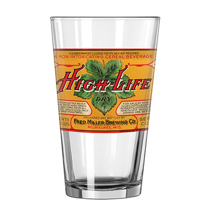 MILLER High Life Retro Pint Glass