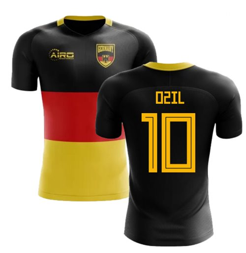 2018-2019 Germany Flag Concept Football Shirt (Ozil 10)