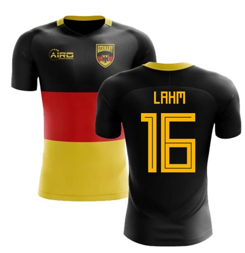2018-2019 Germany Flag Concept Football Shirt (Lahm 16)