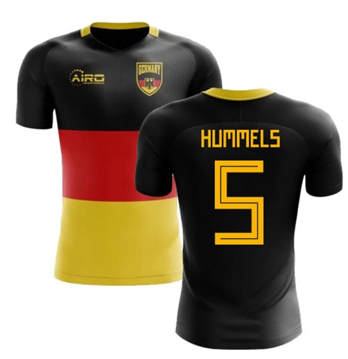 2018-2019 Germany Flag Concept Football Shirt (Hummels 5)