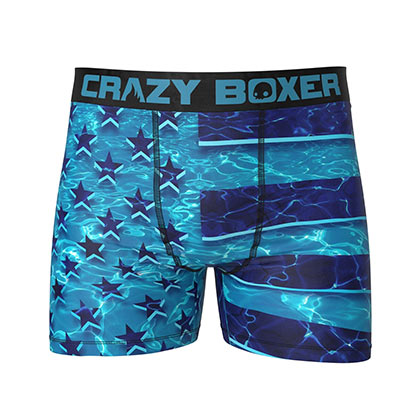 American Flag Under Water Boxer Briefs