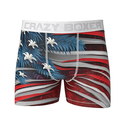 American Flag USA Jungle Print Boxer Briefs