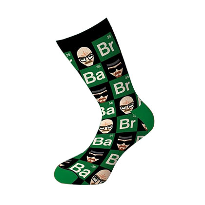 BREAKING BAD Faces and Elements Crew Socks