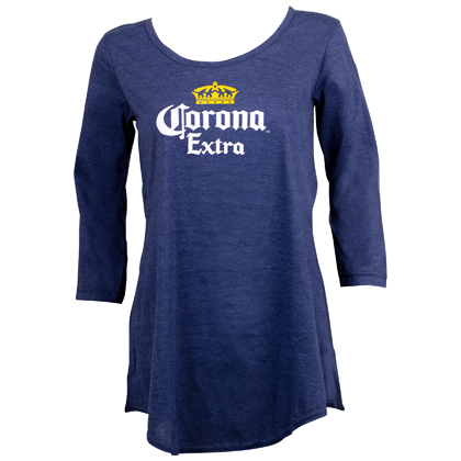 Corona Crown Logo Long Sleeve Women's Shirt