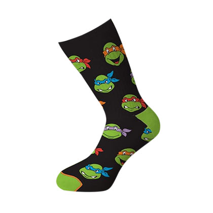 TEENAGE MUTANT NINJA TURTLES TMNT Heads Crew Socks