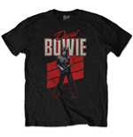 David Bowie Men's Tee: Red Sax