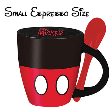 Mickey Mouse Mini Espresso Cup With Spoon