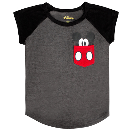 Mickey Mouse Youth Sized Hidden Pocket Tee
