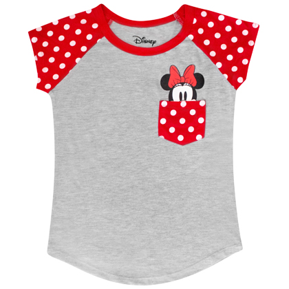 Minnie Mouse Youth Sized Peeking Pocket Tee