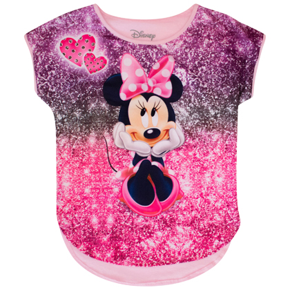 Minnie Mouse Sparkle Smile Youth Size Tshirt
